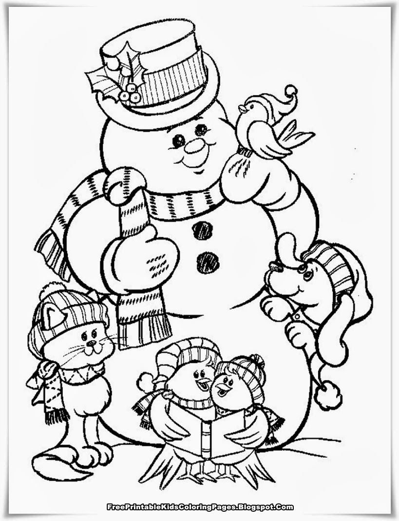 Snowman | Christmas Coloring Pages | Pinterest | Christmas coloring ...