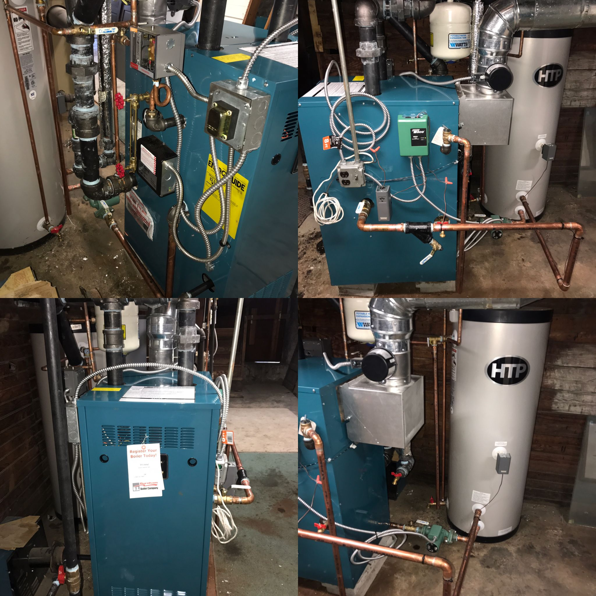 New Steam Boiler And Indirect Hot Water Storage Tank Install In