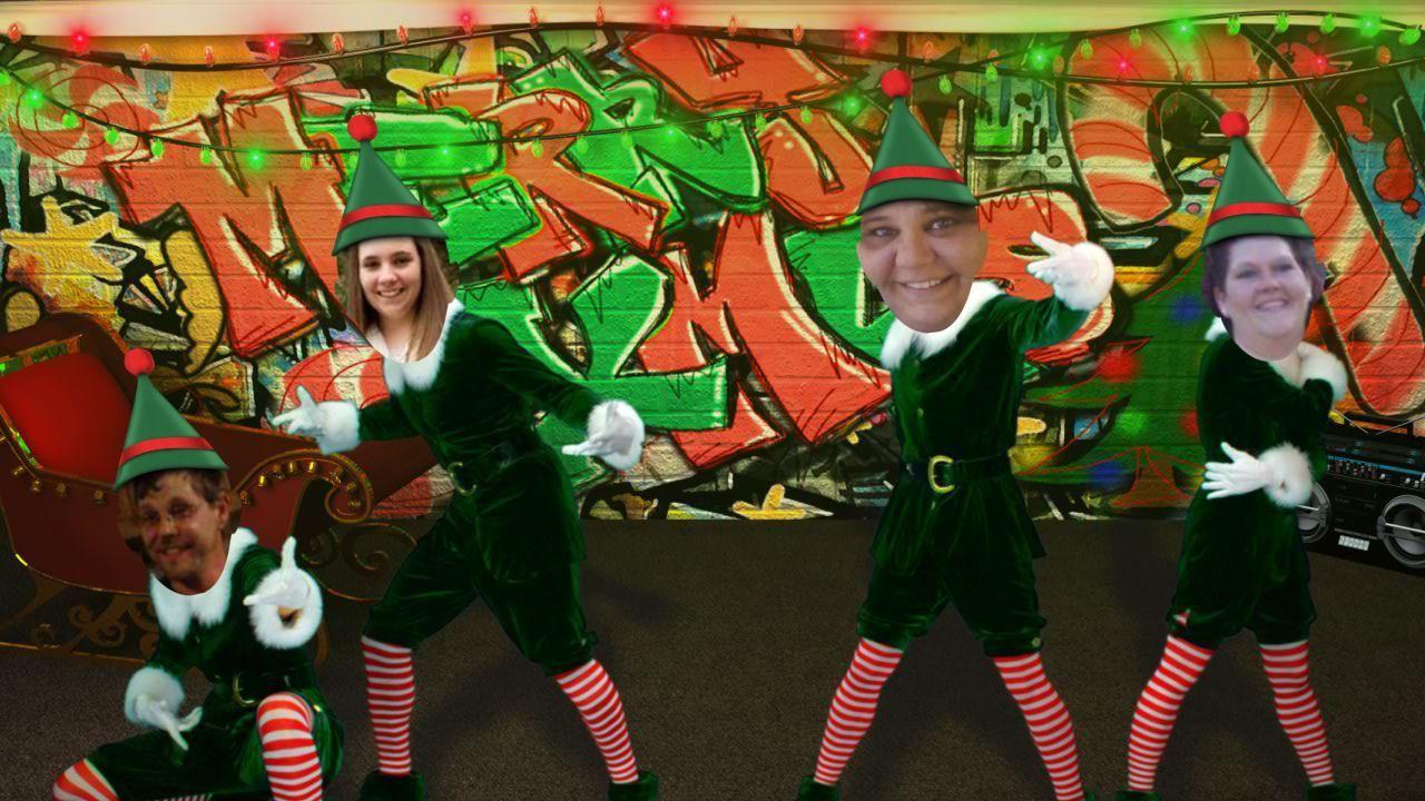 Merry Christmas Elf dance, Elf yourself, Christmas elf