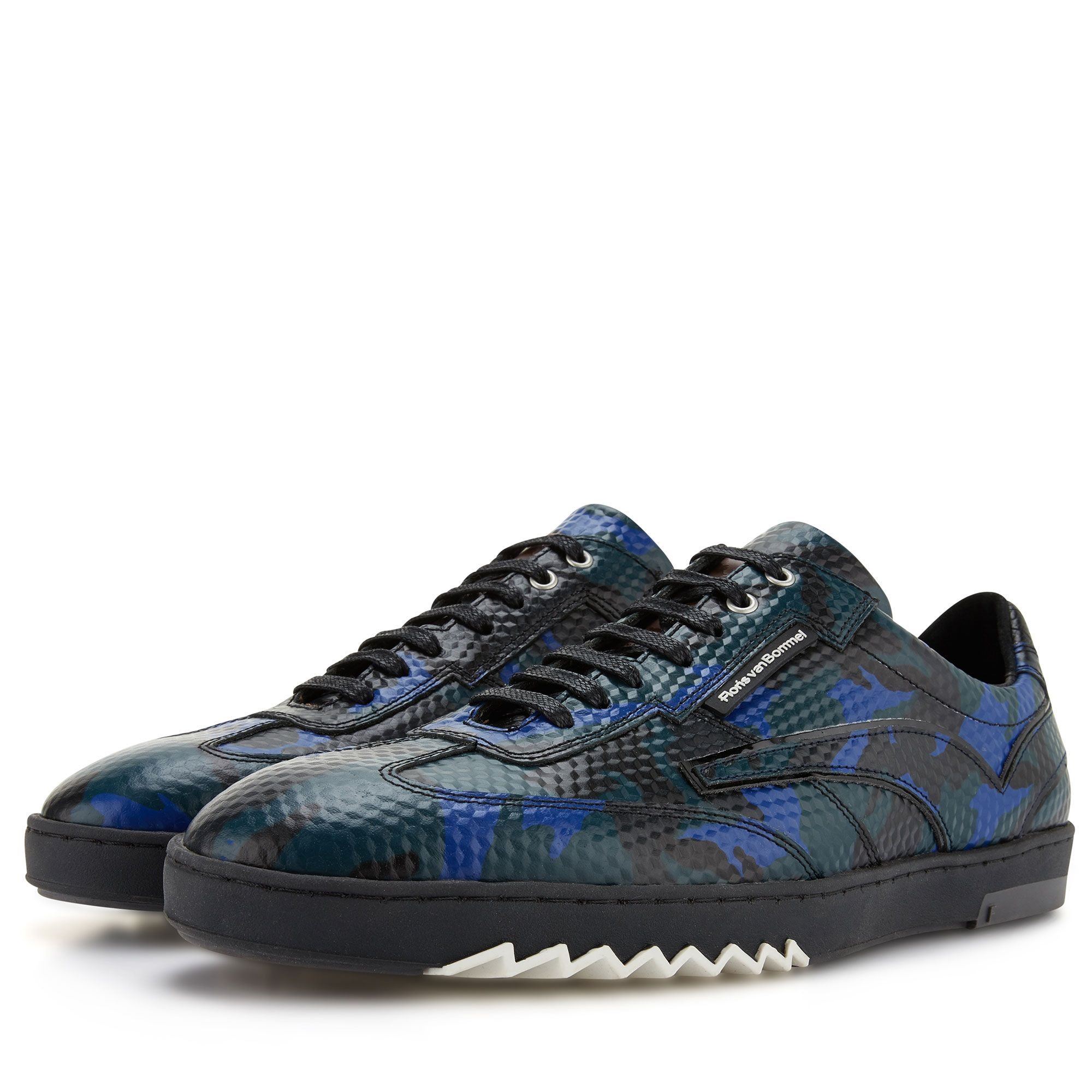 16094 03 Floris Van Bommel Black Leather Men S Sneaker With Snake Print Sneakers Sneakers Men Fashion Mens Sport Sneakers