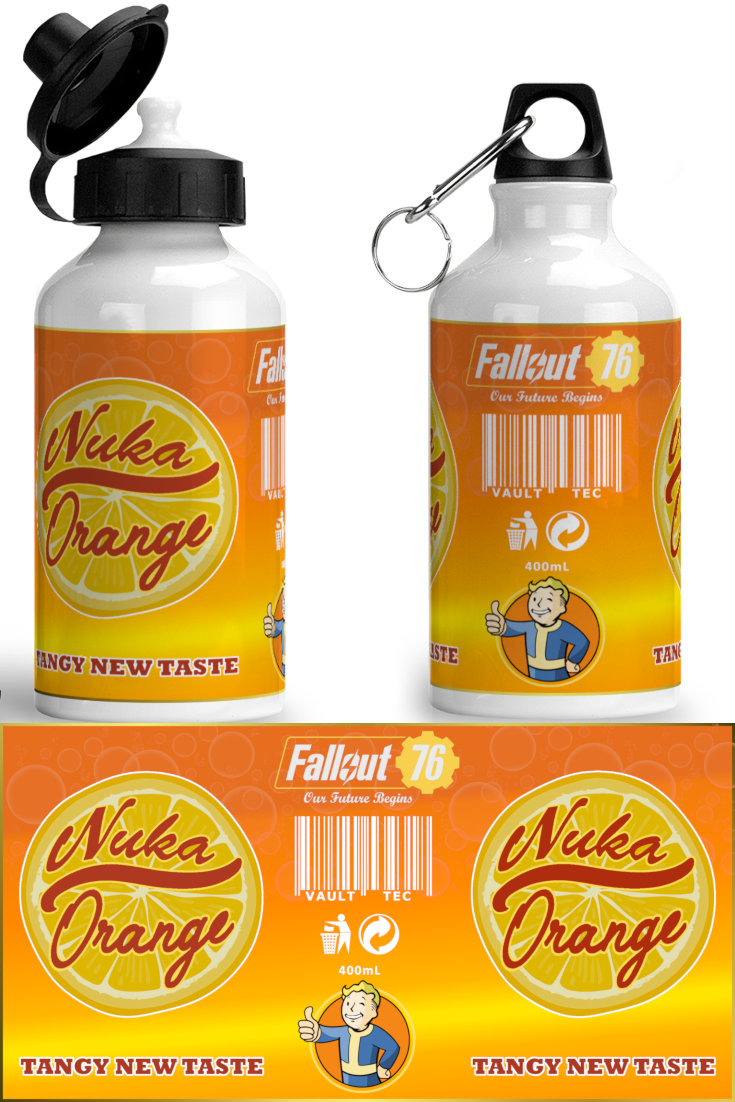 An orange-flavored version of Nuka-Cola, easily