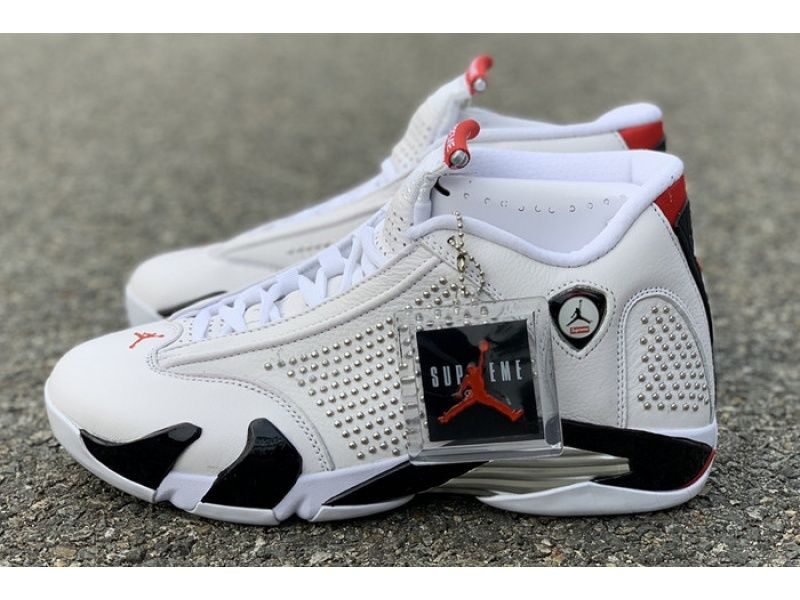Special Offer New Arrival Supreme X Air Jordan 14 Sp White Bv7630 106 For Perfectkicks  New Releases And Fashionable Cheap Prices Supreme X Air Jordan 14 Sp White Bv7630...