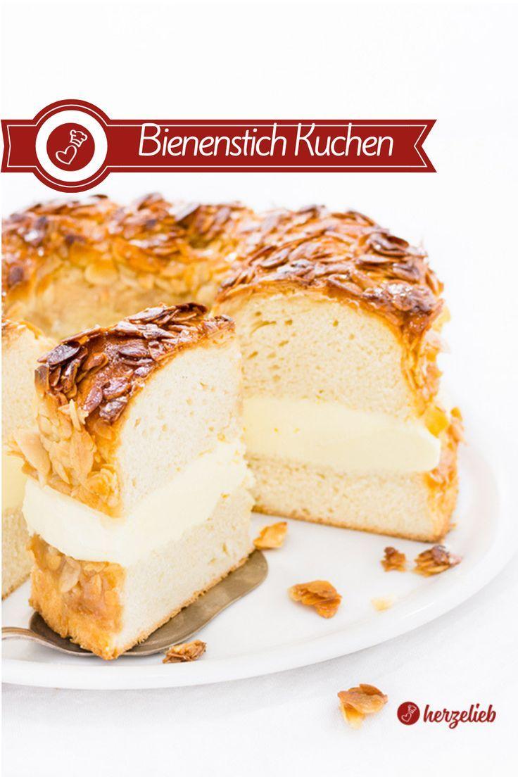 Bienenstich Rezept - auch als Kuchen unwiderstehlich!