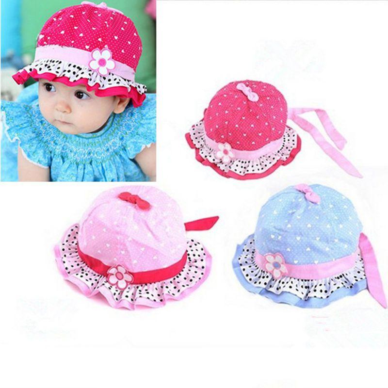 a6b671df4b061 Lindas Sombrero de bebé playa Gorro Flor Gorra de Sol Niña Verano Hat  ppp  in Bebés