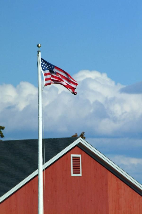 Install A Residential Flag Pole And Show Your Love For Your Country God Bless America God Bless America Flag Red White