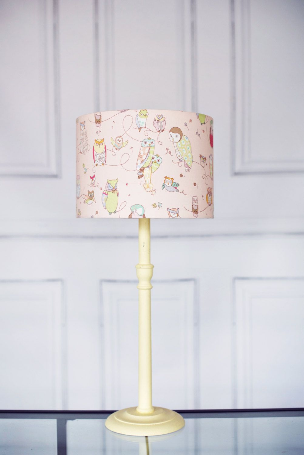 Nursery Lampshade Pink Lamp Shade Children S Bedroom Owl Home Decor Lamps New Baby Gift