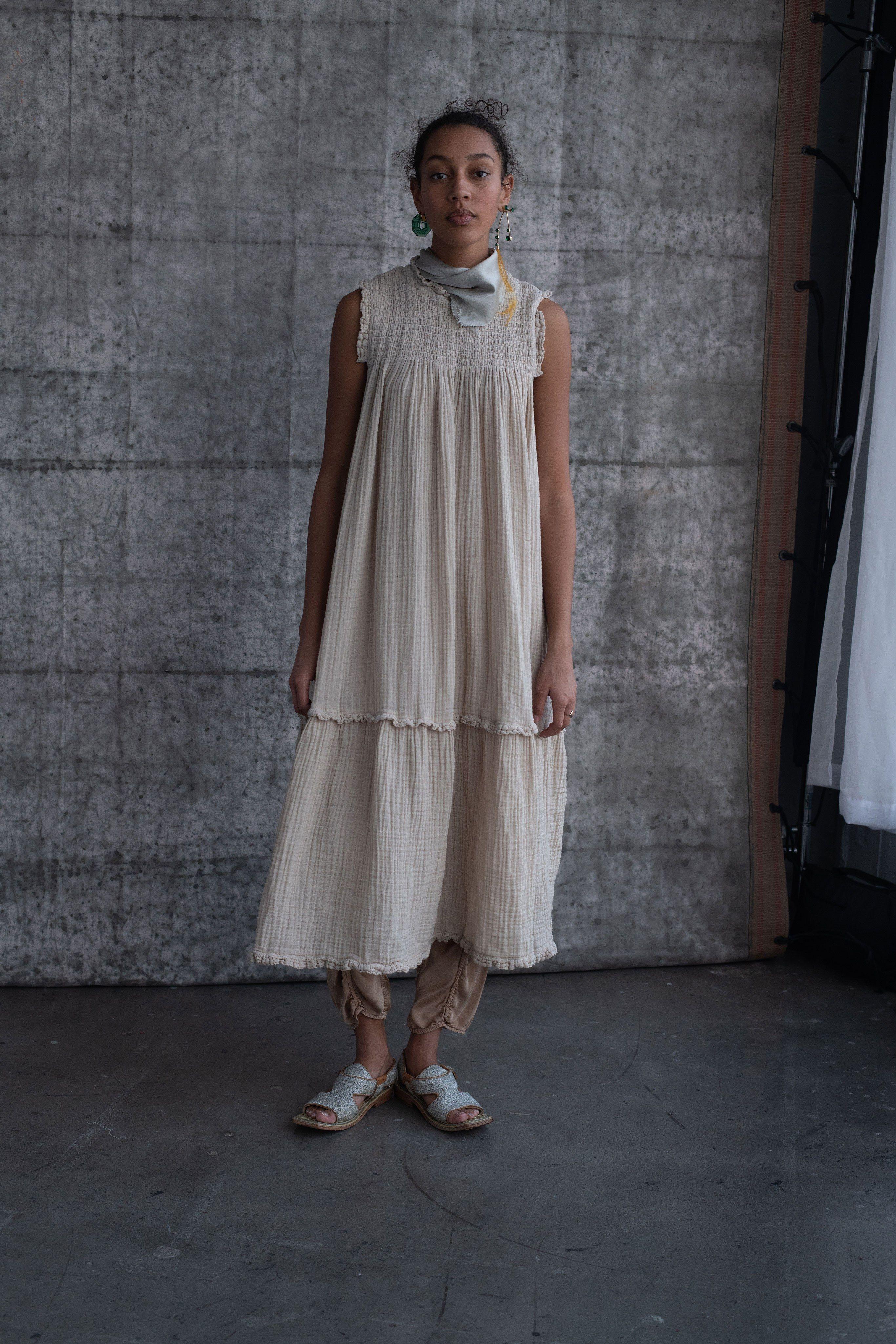 c612751a1740 Raquel Allegra Pre-Fall 2019 Fashion Show in 2018 |