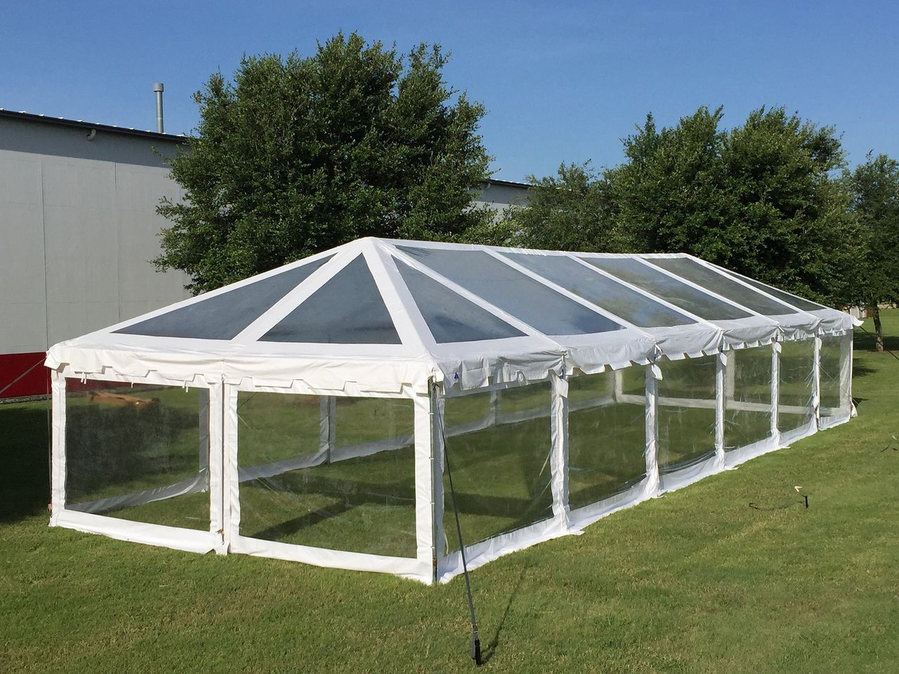 60 X20 Clear Pvc Combi Tent Heavy Duty Party Wedding