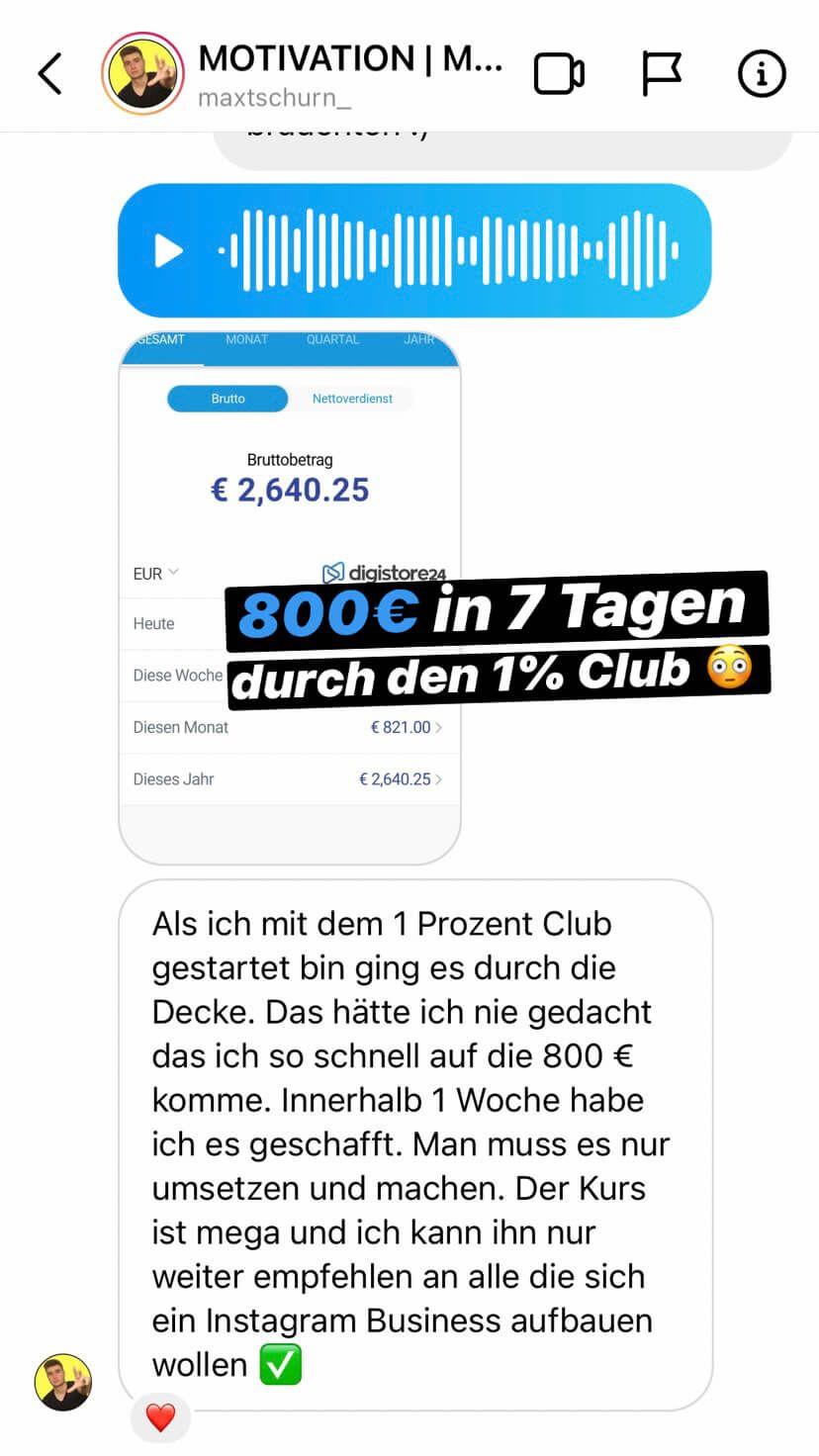 verdiene geld mit instagram