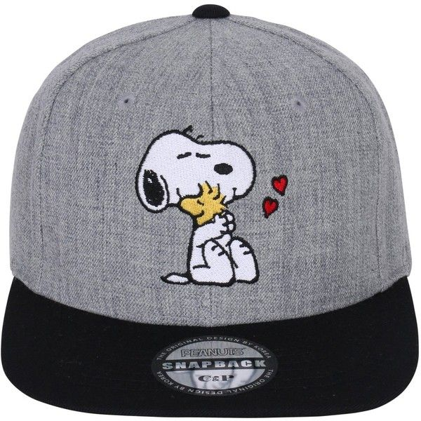 251a652d93d Peanuts Embroidery Cute Snoopy Woodstock Snapback New Era Style Hat...  ( 21) ❤ liked on Polyvore featuring accessories
