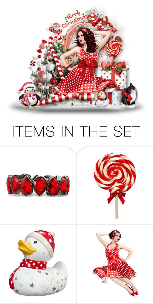 """""""Candy Canes & Polka Dots"""" by tracireuer ❤ liked on Polyvore featuring art"""