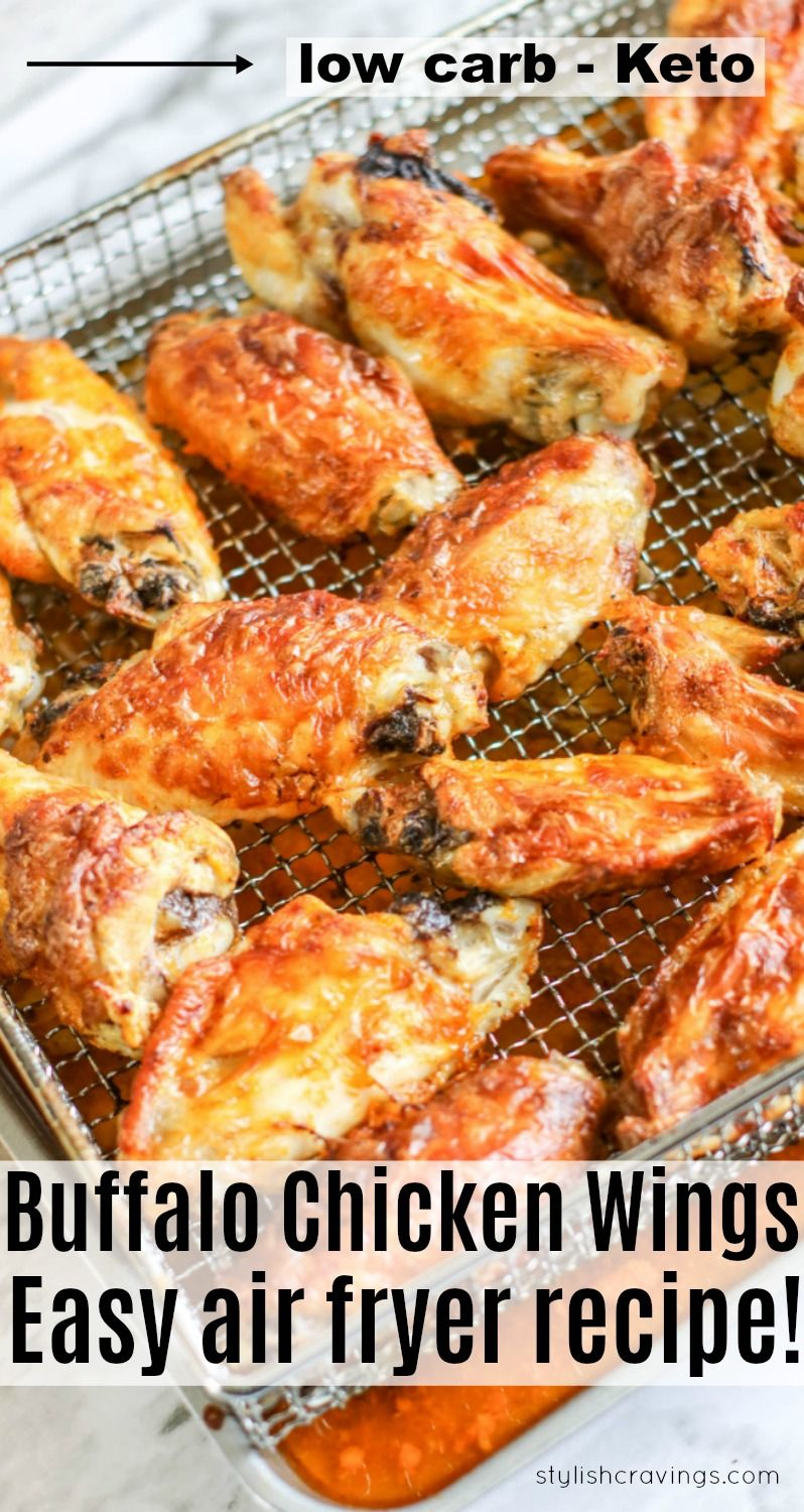 Low Carb Air Fryer Buffalo Chicken Wings