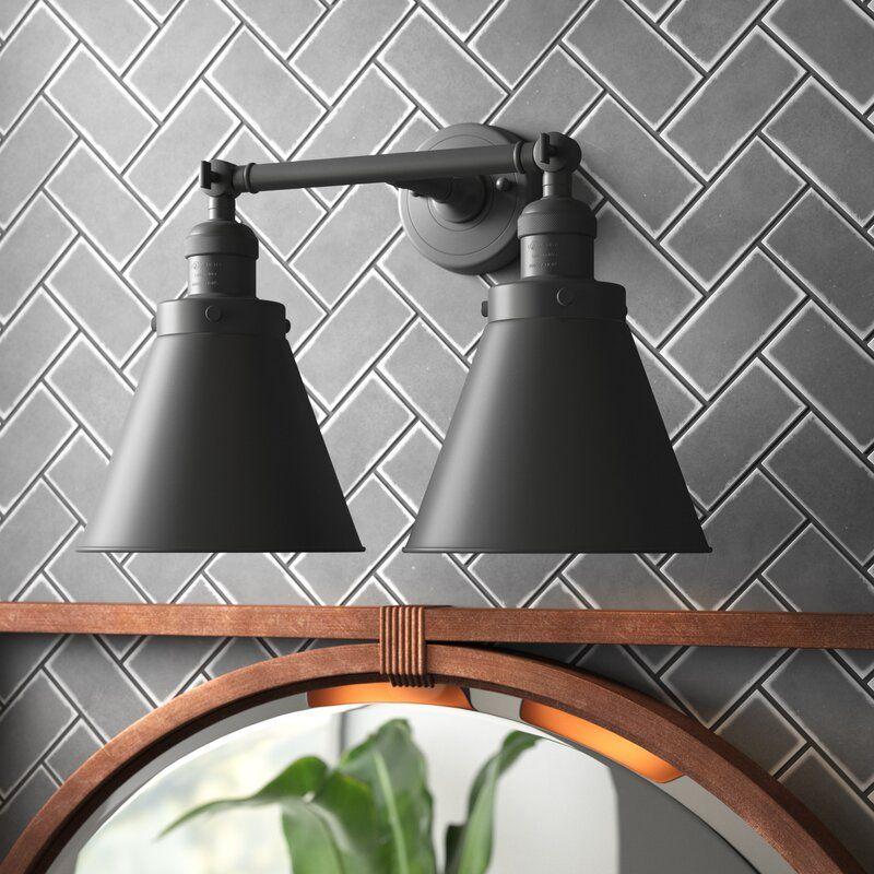 Conan Bathroom Fixture 2 Light Dimmable Vanity Light Vanity Lighting Bathroom Fixtures Vintage Bulb