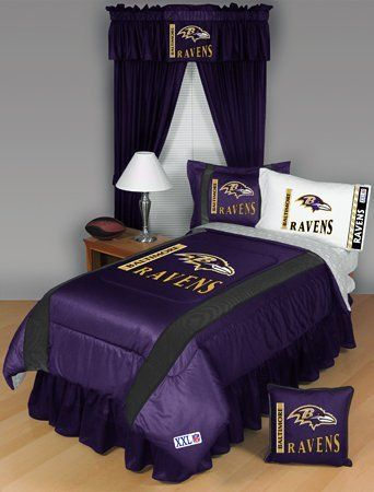 Baltimore Ravens Bedding Set 8 Pc Queen Comforter Bed Set By