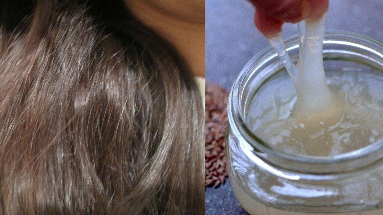 وصفة سحرية تنعيم الشعر الجاف المبعثر والمتضرر وصفة لتطويل الشعر و ترطيب Flax Seed Recipes Glass Of Milk Flax Seed