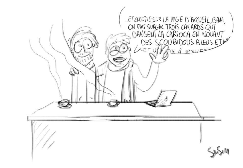 Résumé de la réunion sur le design web du futur site de Siméon.  by Siméon Janssens