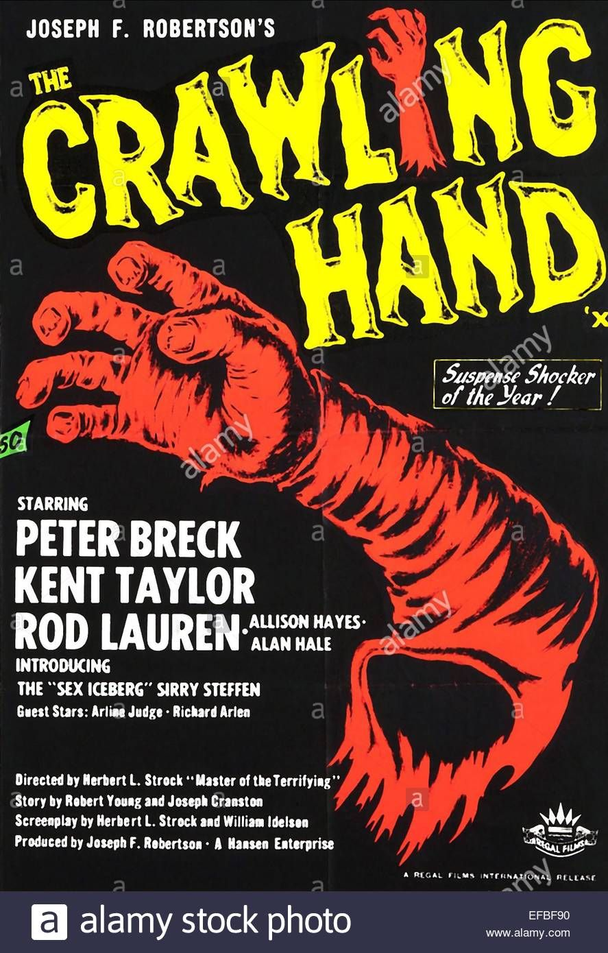 Movie Poster The Crawling Hand 1963 Stock Photo Golden Movies