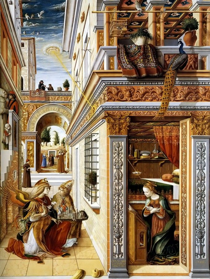 """Carlo Crivelli """"Annunciation"""" 1486"""