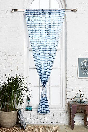 indigo tie dye curtain by noodle interior pinterest teinture naturelle teinture et montr al. Black Bedroom Furniture Sets. Home Design Ideas