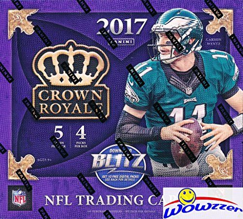 2017 Panini Crown Royale NFL Football EXCLUSIVE Factory Sealed Retail Box with TWO 2 AUT