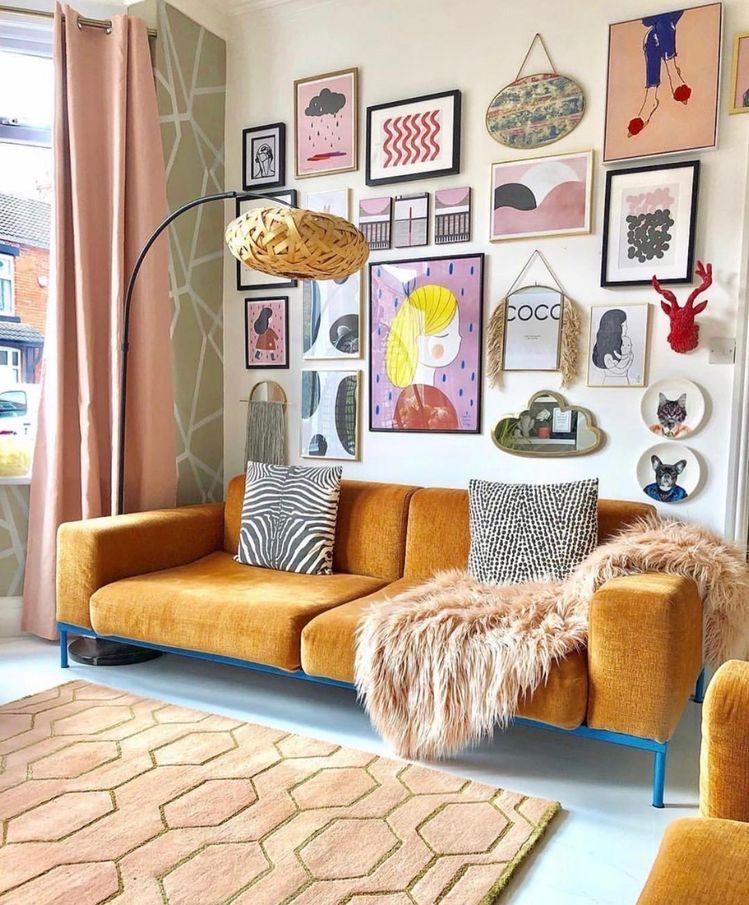 Eclectic Wall Art Cozyhome Decor Design Homedecor Livingroomdecor Eclectic Living Room Eclectic Decor Living Room Art