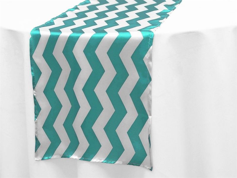 Jazzed Up Chevron Table Runners - Turquoise