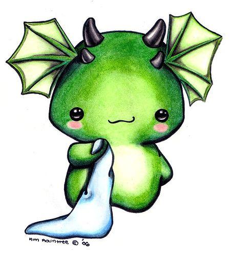 Manga Central August 2009 Kawaii Drawings Cute Dragons Cute Art