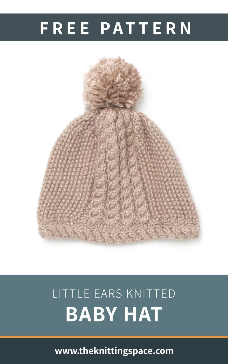 Baby ears free hat knitted knitting pattern keep