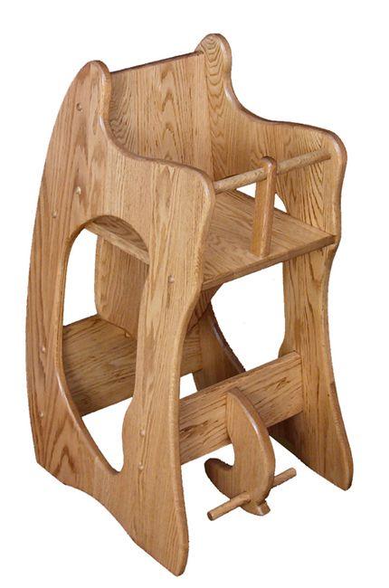amish 3 in 1 high chair plans cheap glider rocking three one oak desk rocker furniture factory