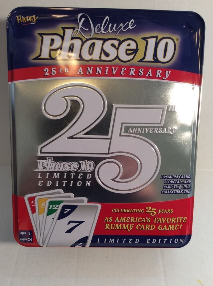 Deluxe phase 10 limited edition 25th anniversary tin rummy