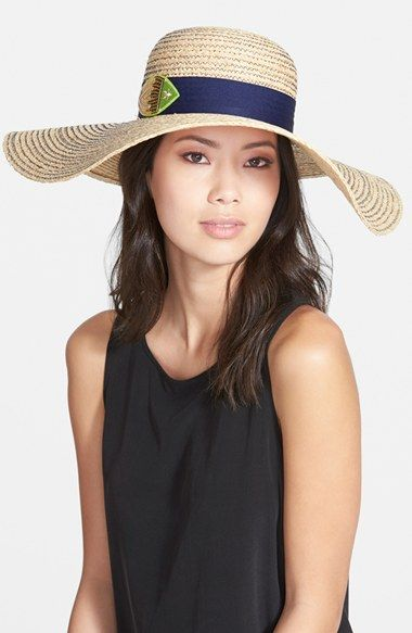 7538bc79b8ea2 Jonathan Adler  Sequined Fish  Floppy Straw Hat available at  Nordstrom