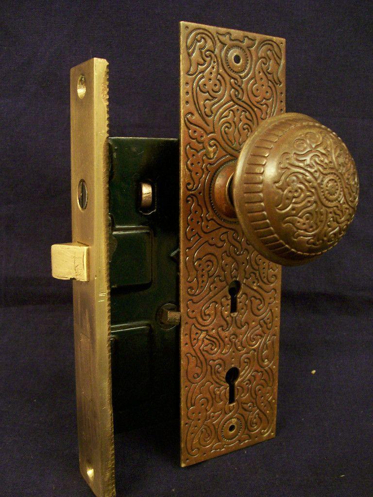 Antique Russell Amp Erwin Quot Villa Quot Entry Door Lock Set C 1890