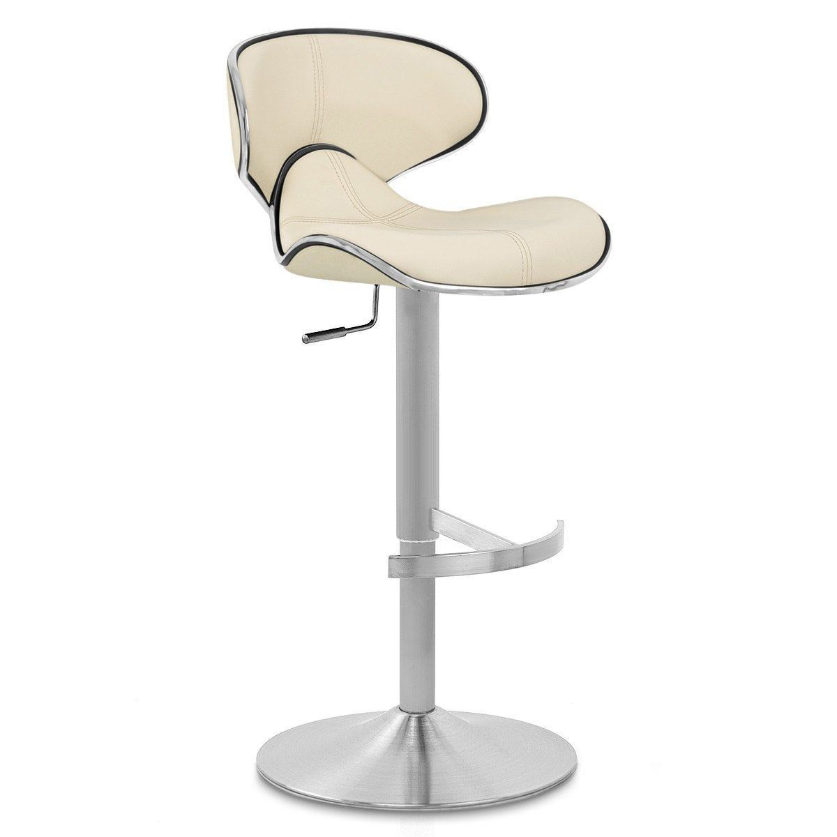 Tabouret De Bar Design Cuir Crème Felix Mdt Products En