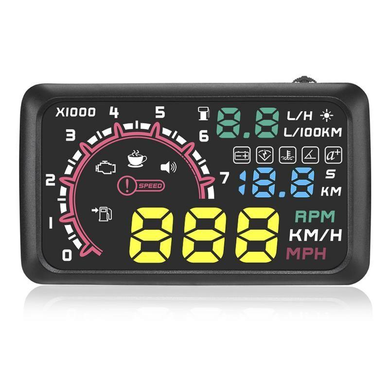 "5.5/"" Universal OBD2 OBDII Car GPS HUD Head Up Display Overspeed Warning System"