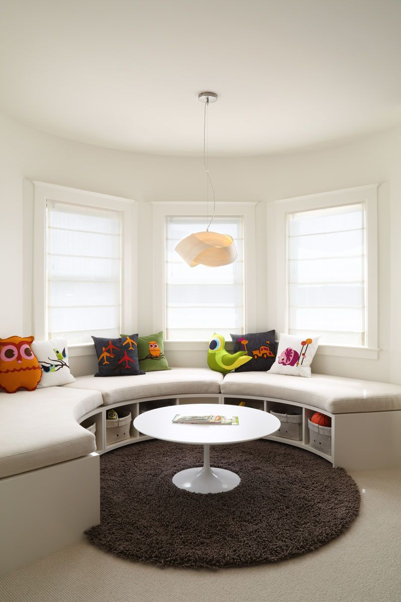 Kids Bedroom Idea Create A Curved Window Seat With Built In Storage Window Seat Window Seat Storage Seating