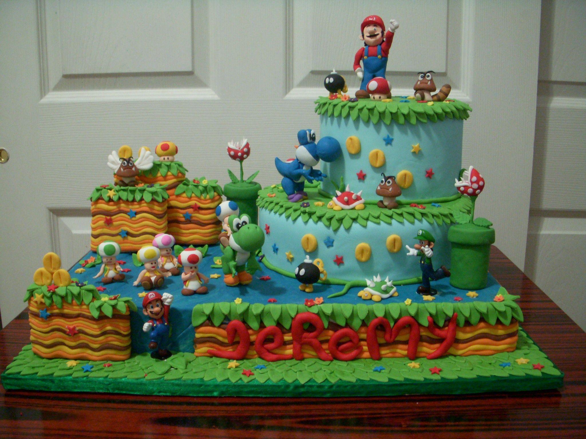 Prime Mario Bros Cake Awesome Super Mario Cake Mario Birthday Personalised Birthday Cards Akebfashionlily Jamesorg