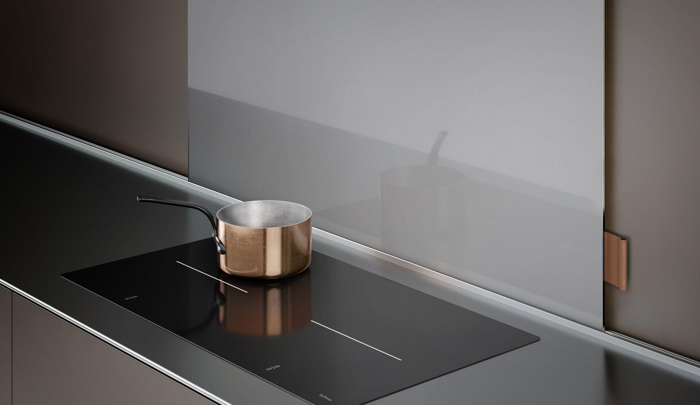 bulthaup - b3 keuken - design - elektrisch fornuis - koperen ...