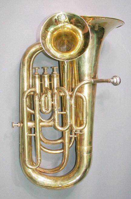 This Is A Duplex Instrument Essentially A Double Bell Euphonium But With Both Bells On The S Brass Musical Instruments Brass Instrument Musical Instruments