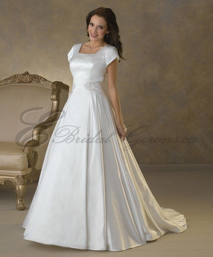 74ac5a79fd4f3 bridesmaid dresses with sleeves | ... Neckline Tulip Sleeves Wedding Dress  - Canada Wedding Dresses Shop