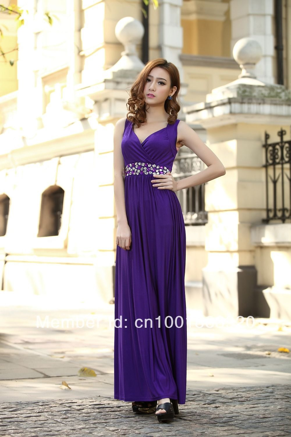 Click to buy ucuc cadbury purple formal party ball gowns plus sizes