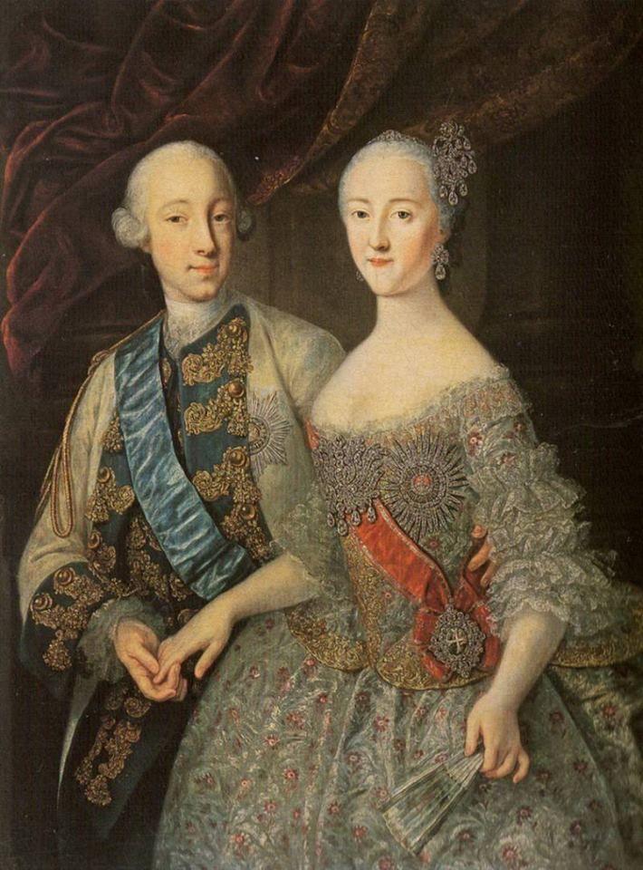 Peter Feodorovich Ekaterina Alekseievna Grand Dukes Of Russia Portrait Of 1745 Catherine Ii Catherine The Great Russia