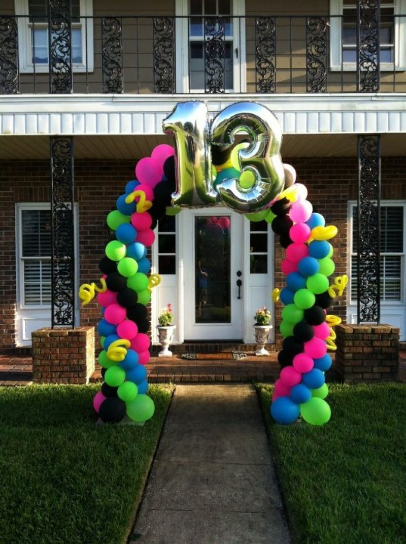 Fun 13th Birthday Balloon Arch Delivered
