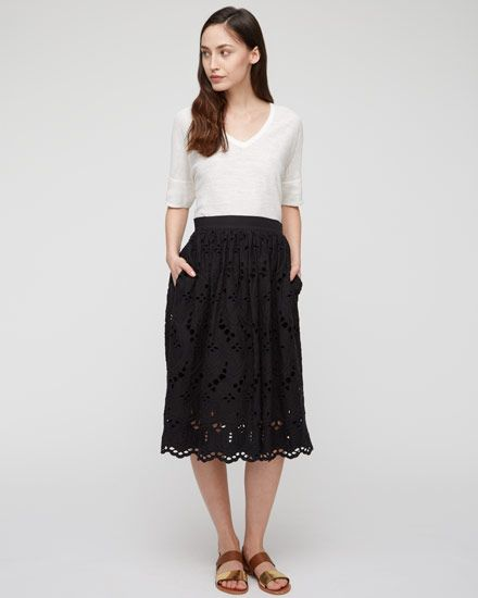 Jigsaw Cutwork Broidery Skirt £149