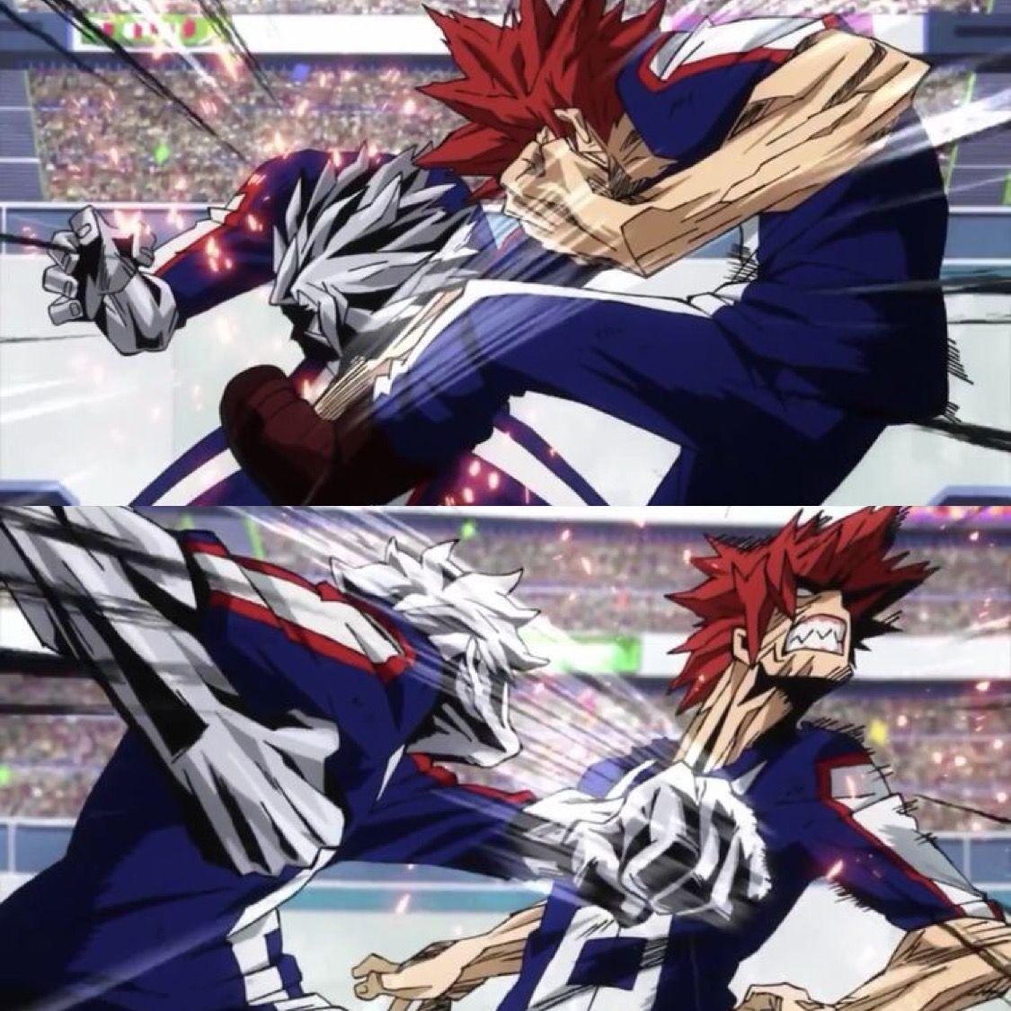 Tetsutetsu Tetsutetsu Vs Kirishima Eijirou Boku No Hero Academia Hero My Hero Kirishima