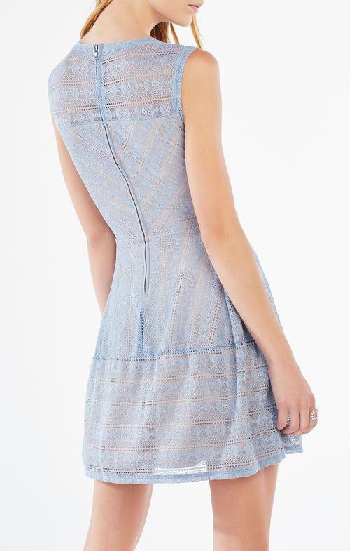 Cassandra Striped Lace Dress