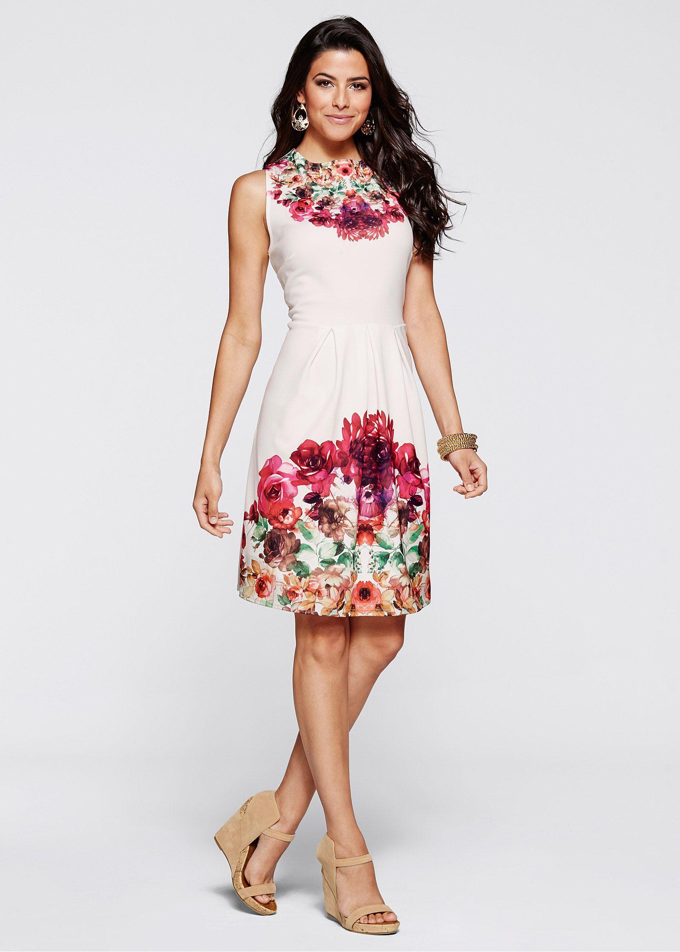 5cd2790af Vestido branco-creme multicolorido - Moda Feminina - bonprix.de ...