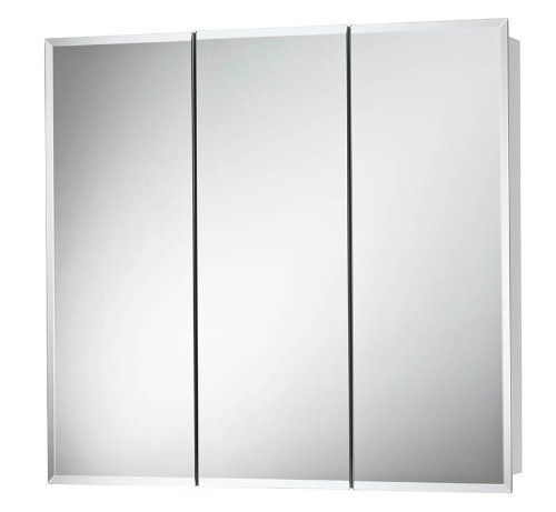 Nutone 255248 Horizon Frameless Medicine Cabinet Tri View Surface