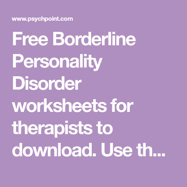 Psychology Assignment Paper on Borderline Personality Disorder -
