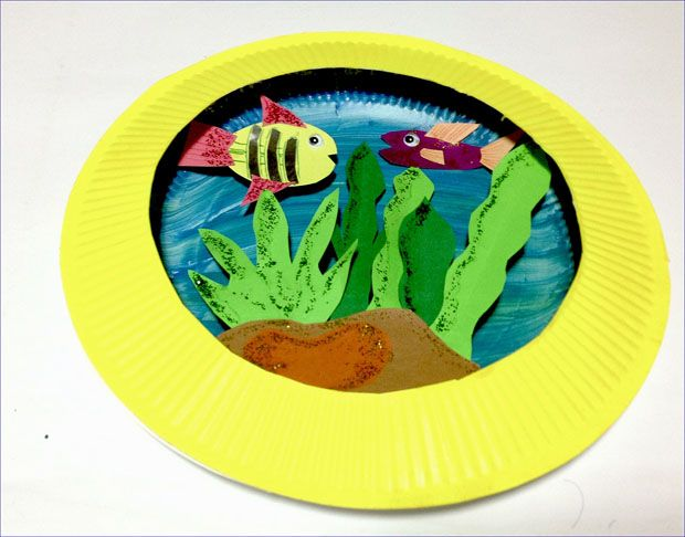 Under the sea (paper plate) & Under the sea (paper plate) | Crafts | Pinterest | Handicraft ...