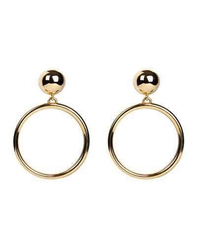 3137157ff7e7c Ben-Amun Hoop Drop Clip-On Earrings | Products | Earrings, Clip on ...